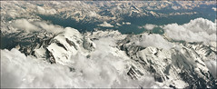 Mont Blanc peak with surroundings (Katarina 2353) Tags: desktop travel summer wallpaper vacation panorama cloud mountain snow france alps film analog landscape nikon europe outdoor aerialview chamonix montblanc katarinastefanovic montblancsummit katarina2353