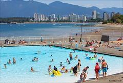 Summer At The Pool (Clayton Perry Photoworks) Tags: summer canada beach pool vancouver swimming downtown bc kits kitspool kitsilanobeach explorebc explorecanada
