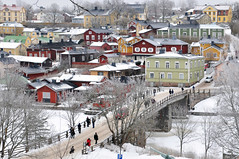 Porvoo (TeRo.A) Tags: porvoo vanhakaupunki oldtown silta bridge joki river jää ice lumi