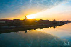 Sundown in tvrđa #2 (v.Haramustek) Tags: osijek croatia hrvatska slavonija sundown tvrđa sky sun clouds blue yellow medival old reflection reflexion
