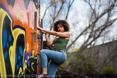 141shoot-52 (rm141studios) Tags: street photography urban chenoa lay calhoun model sacramento sacramentophotographer zoltar chevelle nikon nikond750 d750 graffiti dope mixedgirl mixed trespassing trespasser trespass send nudes train abandoned broken glass mirror fuck you 85mm wide angle midtown banksy 141