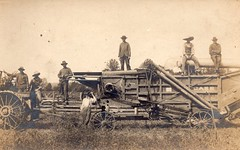 by Mattie Milby (HaleyDoIt) Tags: kentucky old photos oldpictures greensburg country milby family familyphotos oldfamilyphotos farming machine harvest crop workers poor machinery industrial work labor rural