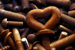 Heart Made of Metal (HMM) (G. Lang) Tags: heart makro macromondays schrauben sonyalpha7ii herz cœur tamronaf90mm128macro11 screw sonya7ii madeofmetal vis sonyilce7m2 macro