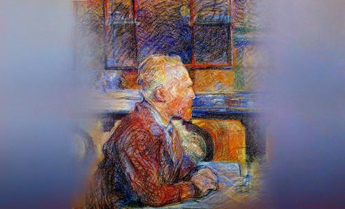 """Mentores, homenaje a Vincent van Gogh de Henri de Toulouse Lautrec (1887), y al padre de Pablo Picasso (1896). • <a style=""""font-size:0.8em;"""" href=""""http://www.flickr.com/photos/30735181@N00/8815673196/"""" target=""""_blank"""">View on Flickr</a>"""
