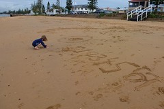 Redcliffe Beach (scinta1) Tags: beach sand brisbane redcliffe 2013