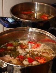 Beef stock (NathanaelB) Tags: cooking kitchen beef stock pot stockpot