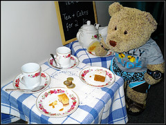 Ted's Tea Shoppe 5/5 [Explored] (pefkosmad) Tags: money cakes shop funny tea failure fluffy explore softie tip teddybear tearoom tearooms teashop paid teafortwo teashoppe notip explored gingernutt nobbynomates tedricstudmuffin