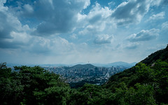 More clouds over Seoul Tower (Fujifilm) (jkspepper) Tags: skyline clouds landscape korea seoul fujifilm 21mm 14mm xe1 xf14mmf28r