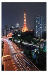 Akabenabashi with Tokyo Tower I (kbaranowski) Tags: city l