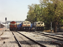 Power Packed ABR Sidelines (Jai BGKT) Tags: from road station for power with starter side north railway going container rake western take wait to passenger another piglet left abu mode railways charge arrives towards rajasthan packed ahmedabad ajmer jodhpur the nwr sidelines emd abr shf concor 12283 12720 17538 palanpur a of wdm3a bgkt wdg4 boxn exbgkt