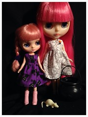 the Pink sisters in Halloween dresses