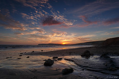 Isle of Wight, sunset at Compton Bay2 (DavidW_UK) Tags: england unitedkingdom freshwater landscapessunset landscapescoast selectpicsretouched englandisleofwightcomptonbay