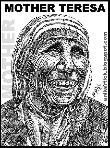 PORTRAITS - Celebrities and famous Personalities Portraits - Pen drawings - Pencil drawings - Artist Anikartick,Chennai,Tamil Nadu,India