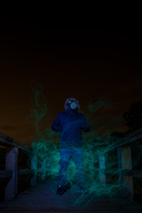Gassed (A_Cro) Tags: longexposure wales night canon gas spooky elwire nighttimephotography sigma1020 electroluminescentwire welshflickrcymru welshphotographer canon550d