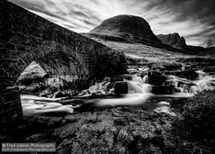 Applecross Mono 2 (Fred-Adams) Tags: longexposure bridge mountains water river flow scotland rocks scottish hdr mountainscape applecross sgurrachaorachain applecrosspass alltachumhaing