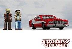 Starsky & Hutch - Ford Gran Torino 1974 (lego911) Tags: auto birthday usa classic ford film car america movie torino 1974 la tv model cops lego render police gran starskyhutch hutch 1970s 72 coupe challenge 6th cad lugnuts starsky detective povray moc ldd miniland lego911 lugnuts6thanniversary