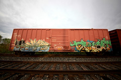 (o texano) Tags: austin bench graffiti texas ant trains swear drift freights benching