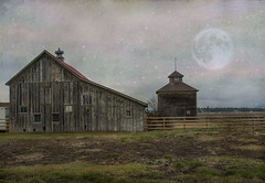 Farm (Cat Girl 007) Tags: usa nature field grass architecture farmhouse barn manipulated fence landscape outdoors photography countryside montana farm rustic farmland agriculture kalispell woodenstructure colorimage horizontalcomposition
