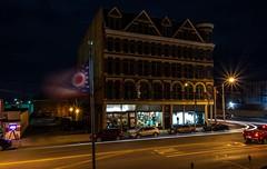 Metropolitan (ramseybuckeye) Tags: life street light ohio usa art st night downtown place lima pentax flag main north trails block met metropolitan nitzas k30
