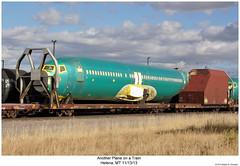 Another Plane on a Train (Robert W. Thomson) Tags: railroad train plane montana jet railway trains railcar traincar helena boeing bnsf rollingstock flatcar burlingtonnorthernsantafe
