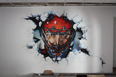 commercial work (Roze Saint-P) Tags: man game ice hockey face club graffiti photo mask ska helmet spray decor dmitriy realism chl graffitiart realistic goalkeeper spb sprayart photorealism    fotoreality   fotoreal    yachanov