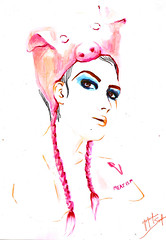 Hipocrisia (Jaque Sampin) Tags: illustration mulher desenhos ilustração copic fashionvictim 2014 nanquim ilustrações vegetarianos ilustras hidrocor hipocrisia jaquelinesampin fakevegan mundohipócrita