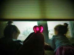 My Valentines (S Tutak) Tags: girls color love kids canon children mom parents twins child heart bokeh amor daughter valentine amour iloveyou truelove sevgi sx260hs {vision}:{sunset}=0645