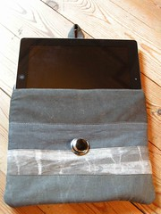 housse tablette anthracite a bouton