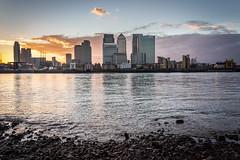 Canary Wharf at sunset (James_Beard) Tags: sunset london wharf canary canarywharf londonskyline