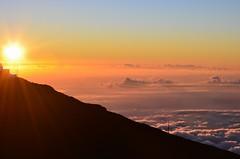 Silken clouds (Jason Fairbairn Photography) Tags: sunset red orange usa cloud mountain nature sunshine night clouds america landscape hawaii evening nationalpark nikon heaven nightscape dusk maui observatory haleakala abovetheclouds mauisunset haleakalasummit mountainsummit nikonphotography halaekalaobservatory