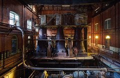 Triple Steam Expansion Engine (Subversive Photography) Tags: sunset usa abandoned industry america book us newjersey industrial power decay urbandecay engine steam urbanexploration derelict urbex danielbarter statesofdecay