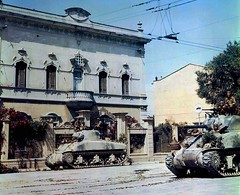 "Shermans, Italy 1944 • <a style=""font-size:0.8em;"" href=""http://www.flickr.com/photos/81723459@N04/13245065993/"" target=""_blank"">View on Flickr</a>"