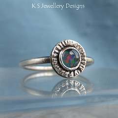 Opal Triplet Sterling Silver Ring (KSJewelleryDesigns) Tags: metal silver shiny hammered shine bright handmade multicoloured jewelry piercing ring jewellery metalwork handcrafted opal soldering polished textured brushed sawing gemstone oxidised silversmith sterlingsilver silversmithing colourchanging stonesetting silverjewellery soldered silverwire brightsilver opaltriplet