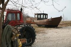 Ahlbeck Fischerei (Bettina Hermann) Tags: beach strand coast march balticsea fishingboat ostsee märz usedom küste 2014 ahlbeck fischkutter fischerei alltypesoftransport