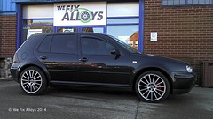 "VW Golf alloy wheels in Shadow Chrome with Red Callipers by We Fix Alloys • <a style=""font-size:0.8em;"" href=""http://www.flickr.com/photos/75836697@N06/13784927445/"" target=""_blank"">View on Flickr</a>"