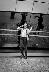 Young model (aboutUruguay) Tags: street bw uruguay montevideo streetphotografy