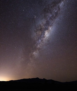 milky way above the kaitake range