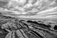 Drama in the Sky (beachwalker2008) Tags: ocean sky water rock clouds pier 1000 ellwood interestingness216 i500 venoco haskellsbeach