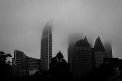 The Mist (SxperiaS) Tags: city white mist black fog architecture canon skyscrapers cities mistery 70d