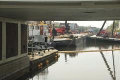kraancrash Julianabrug-7300 (leoval283) Tags: bridge crash cranes pontoons ponton alphenaandenrijn alphen julianabrug hijskranen brugdek