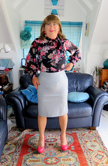 Leather skirt (Trixy Deans) Tags: crossdresser cute crossdress classy dress dresses skirts skirt tgirl tv transvestite transsexual tranny tgirls trixydeans transvesite crossdressing cd highheels hot heels