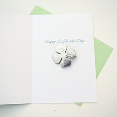 4 leaf clover/ shamrock brooch (snakeandrose / socksandmittens) Tags: stpatricksday irish brooch sterlingsilver jewelry clover shamrock pin irishluck luckycharm