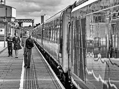 Snake (Mac McCreery) Tags: birminghamuk blackandwhite monochrome train trainstation pentaxk5iis sigma1770dcmacro