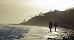Walking towards home (Halfbike) Tags: alnmouth beachwalking seaside lumixgh4
