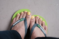 Sunny toes (Inesines19) Tags: art varnish nails barefoot man masculine tasty nailpolish paint erotic vernis pedicure sexy feet pedi men toe toes toenails toenail guy girly cute indoor kiss kissable lickable opi ongles polish straight she foot beautiful girl homme hot he lovely long male nail sandal havaianas yellow sun flip flop
