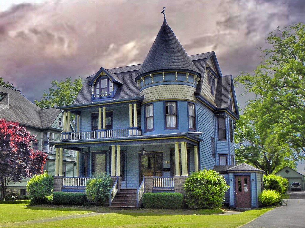 The world 39 s best photos of turret and victorian flickr for Queen anne victorian