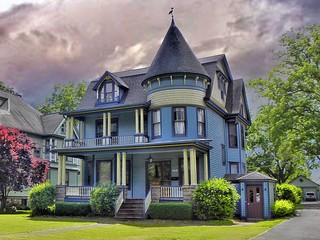 Canandaigua  New York  ~  Elegant Queen Anne Victorian ~ Historical