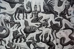 Escher exhibit, Art Science museum (tik_tok) Tags: escher singapore asia artscience museum maths famous mathematician art tessellation
