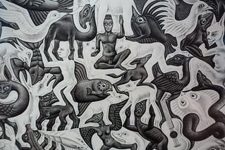 Escher exhibit, Art Science museum