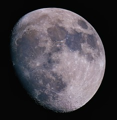 Tonight's Moon Shot 21-05-13 (James Lennie) Tags: moon canon photography astro luna craters devon moonrise astrophotography astronomy nightsky dslr lunar waxing northdevon waxingmoon dobsonian primefocus skywatcher lunarphase lunarphotography quotmoon canon600d quotlunar 10inchreflector quotmoonshotquot closeupquot